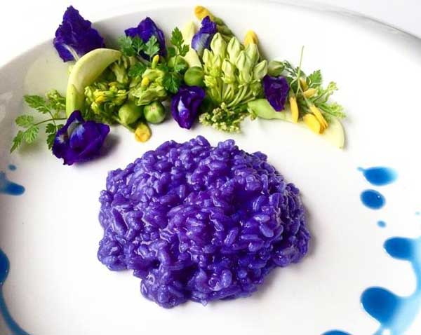 Butterfly Pea Colored Rice