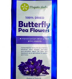Butterfly Pea Flowers by Majestic Herbs
